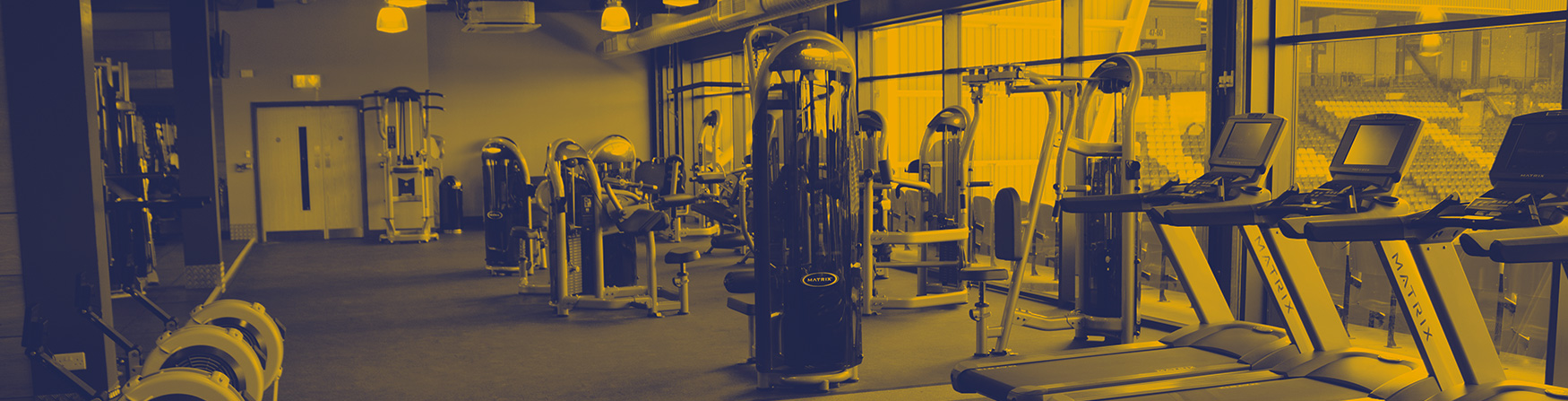 Banner image of gym equipment