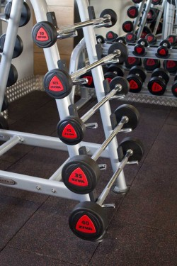 glo gym freeweights area