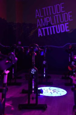glo gym immersive spin studio with myride